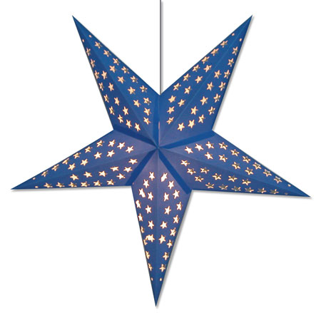 Solid Blue Star Lamp