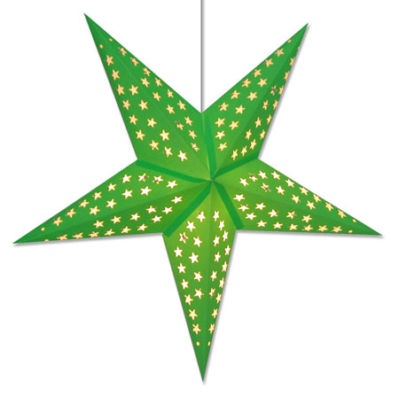 Solid Green Star Lamp