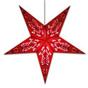 Peacock Star Lamp in Red