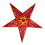 Celtic Star Lantern in Red