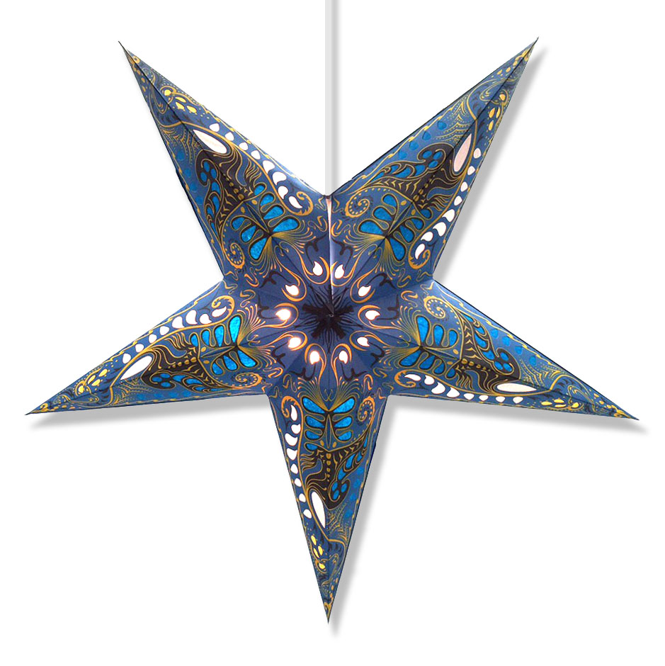 Filigree Star Lantern in Blue