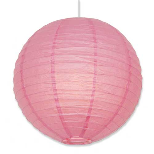Light Pink Round Asian Lantern 16""