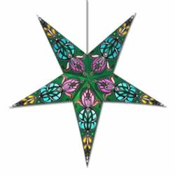 Green Lotus Star Lamp