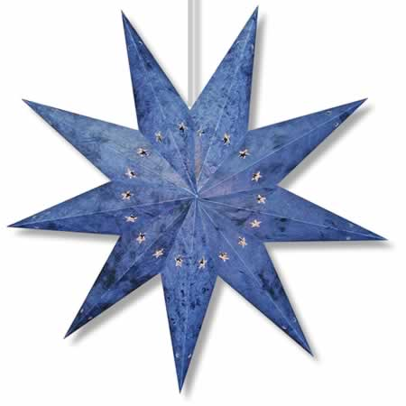 Batik Star Lamp in Blue