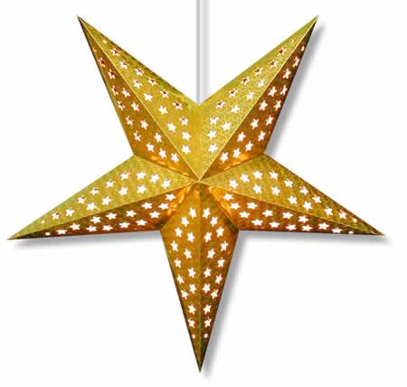 Hologram Star Lamp in Gold