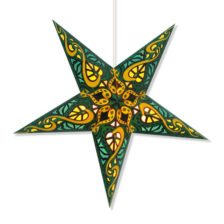 Celtic Star Lantern in Green