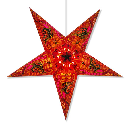 Filigree Star Lamp in Red