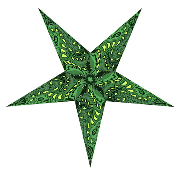Nebula Star Lamp in Green